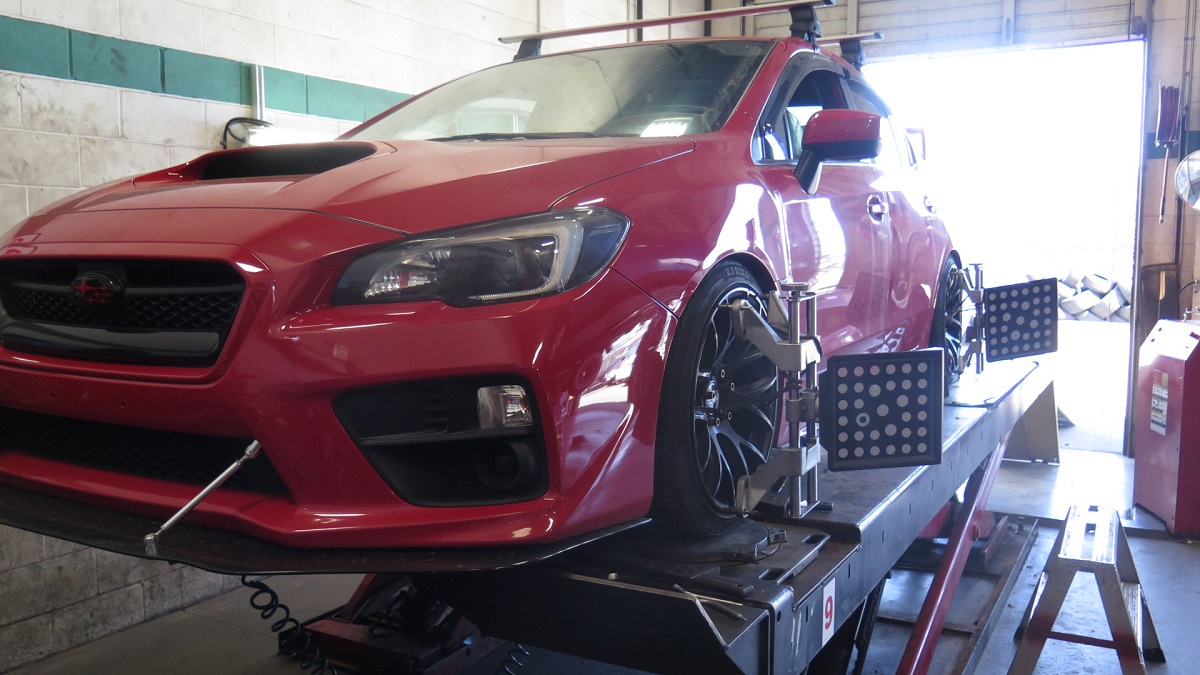 Late model WRX in for Suspension Install & a 4 Wheel