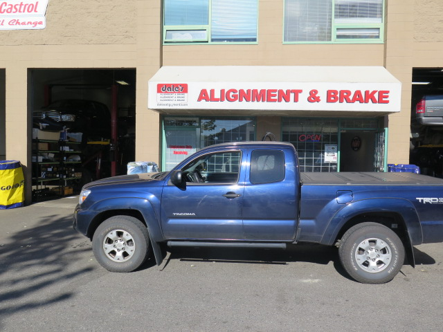 Toyota Tacoma in for a Readylift Leveling Kit at Dales Auto