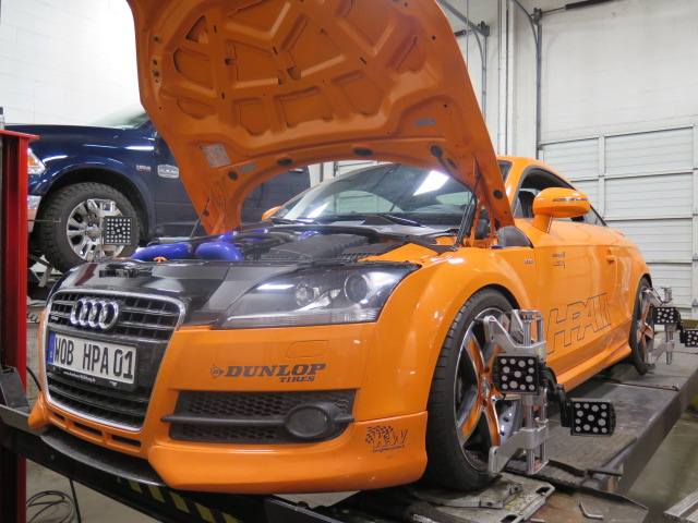 HPA Motorsport Audi TT in for an Alignment Set-up at Dales Auto Service
